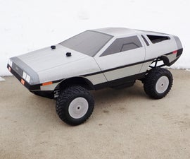 Make a Cardboard DeLorean RC Body