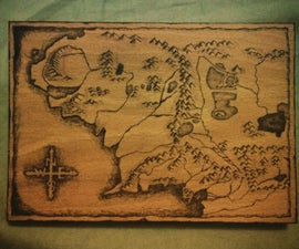 Wood Burning (Map of Middle Earth)
