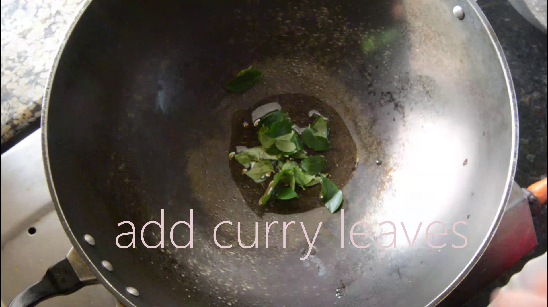 Picture of Add Oil and Curry Leaves