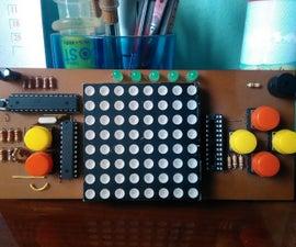 Arduino Dot Matrix Game Console