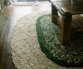 How To: Braid Your Own Large Rag Area Rug!