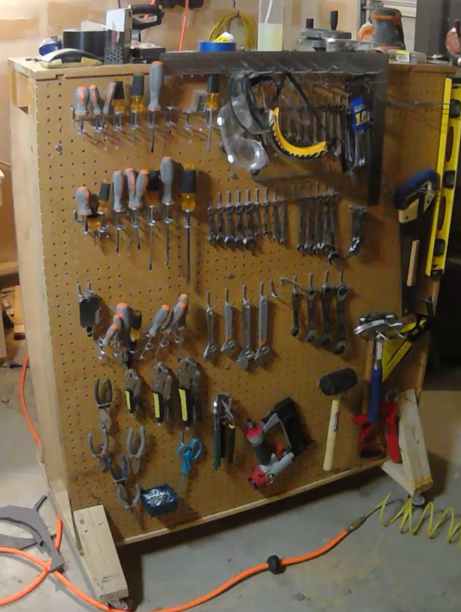 Picture of Mobile Tool Rack From Flat Pack Shelves
