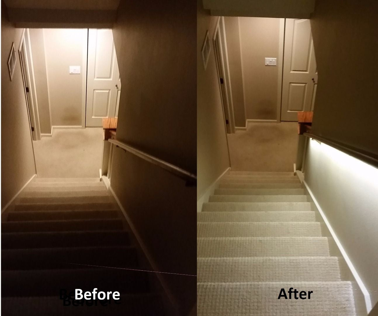 Basement Lighting Fixtures: Stair Lighting Solution With LED Strips: 4 Steps (with