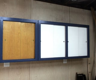 A Simple Way to Convert Shop Storage to Whiteboard Surfaces