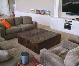 """""""the monolith"""" mod, reclaimed wood coffee table - tsp"""