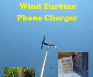 Wind Turbine Mobile USB Charger