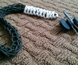 spool knit paracord lanyard