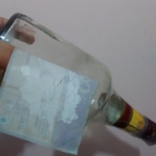 Easiest, Least Messy Way to Remove Labels From Glass Bottles!