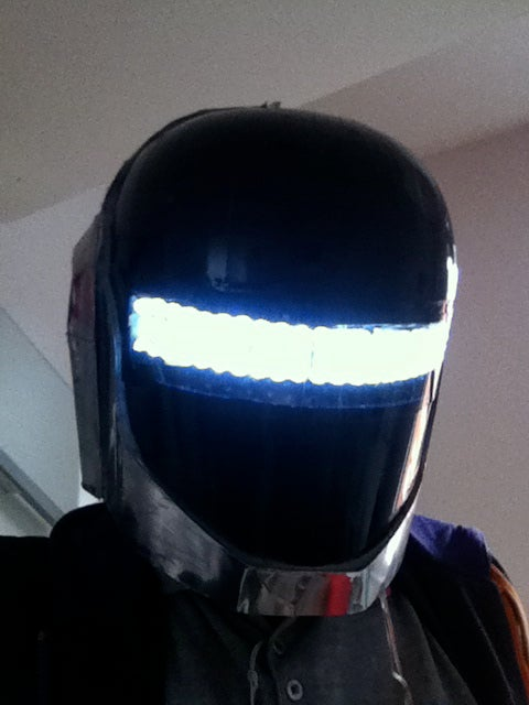 DAFT PUNK TRON (GUY-MANUEL) HELMET, WITH SUIT AND GLOVES