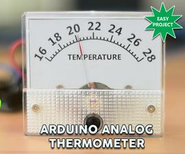 Arduino DIY Analog Thermometer