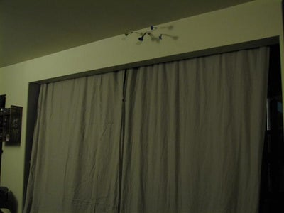 (virtually) Invisible Tension Wire Curtain Rod.