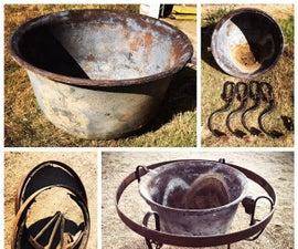 Cast Iron Kettle Fire Pit