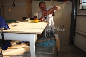Cut the Table Frame Bench Top