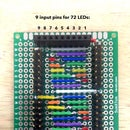9-Charlieplexor (9-pins for 72 LEDs)