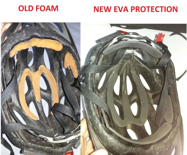 New EVA Protection for Helmet of Cyclists