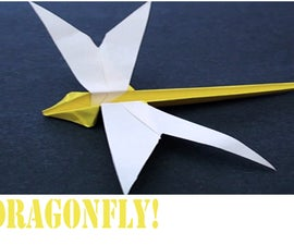 How to make an Origami Dragonfly!