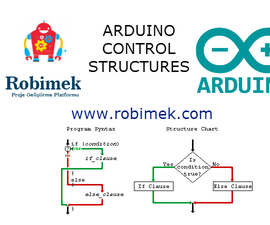 Control structures used in the Arduino programming