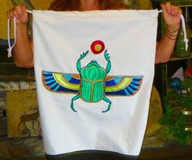 Egyptian Scarab Applique Bag