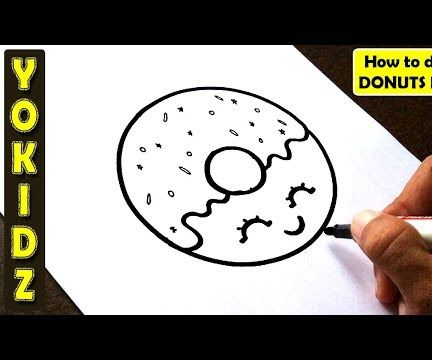 HOW TO DRAW DONUTS EASY
