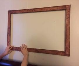 Faux Wood Foamcore Frame