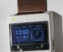 SMALL 3D-printed OLED Wrist-Watch