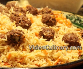 Meatballs and Rice Pilaf - One Pot Meal Recipe