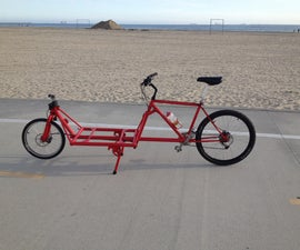 2 Wheeled Cargo Bike from old mountain bike frame