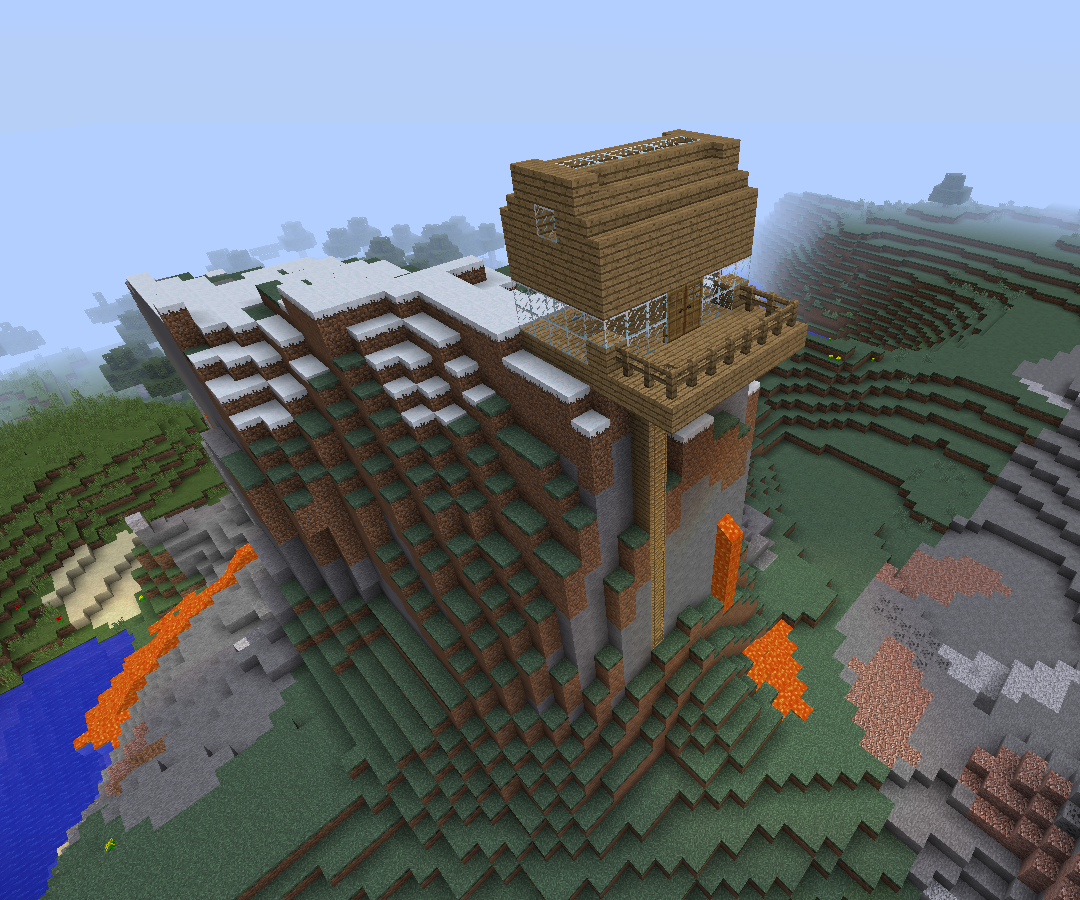 Create Minecraft Mountainhouse 9 Steps Instructables