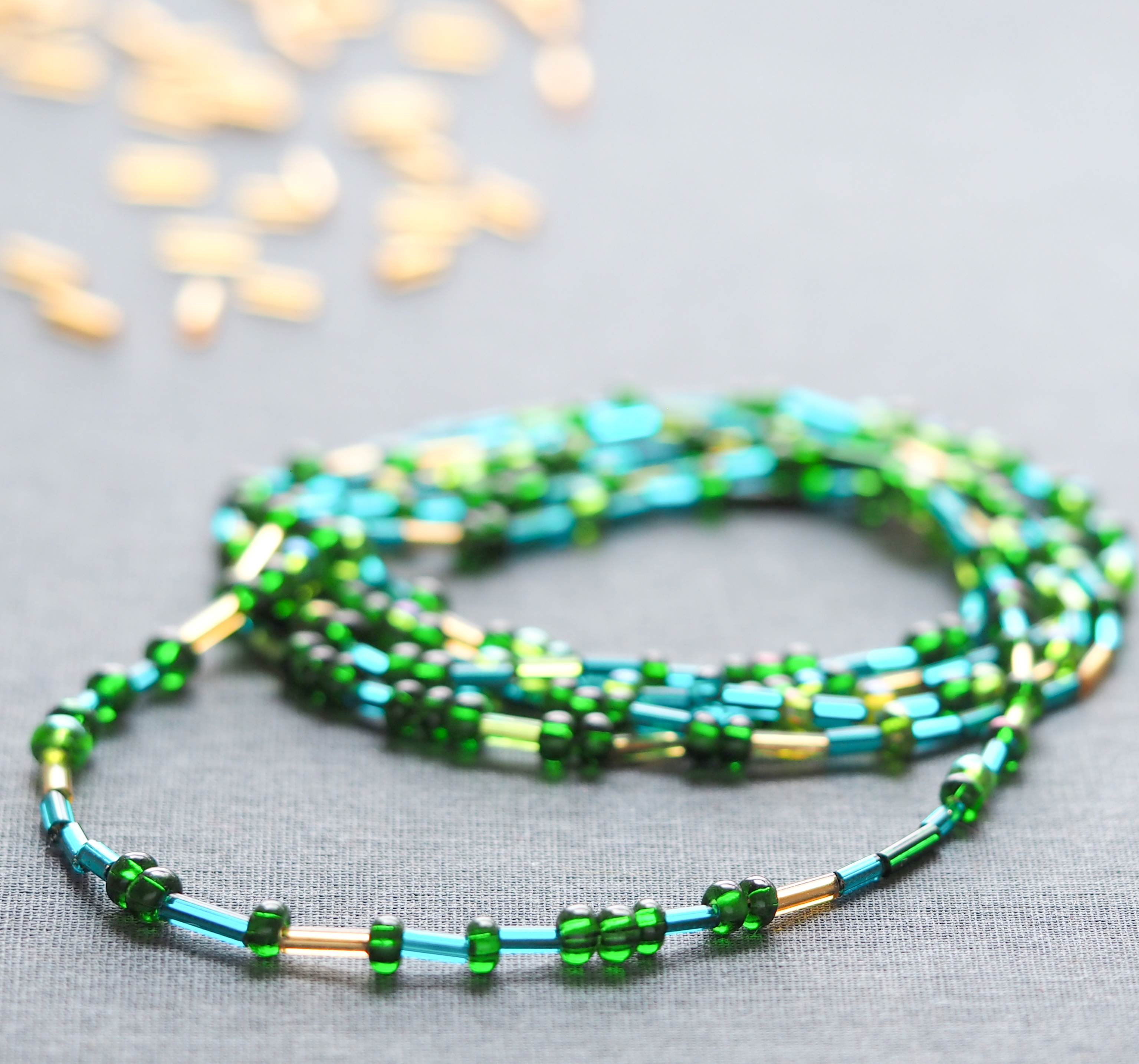 Picture of Morse Code Beaded Wrap