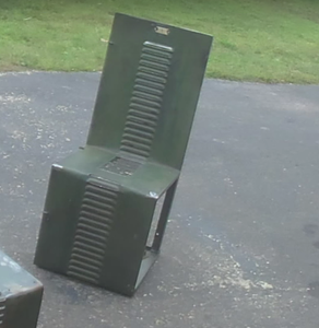 Locker Door Turned Into a Chair
