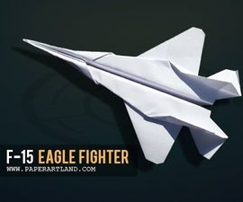 Cool Paper Airplane that Fly | F15
