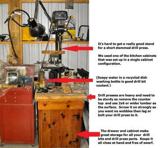 Drill Press Stand and Storage