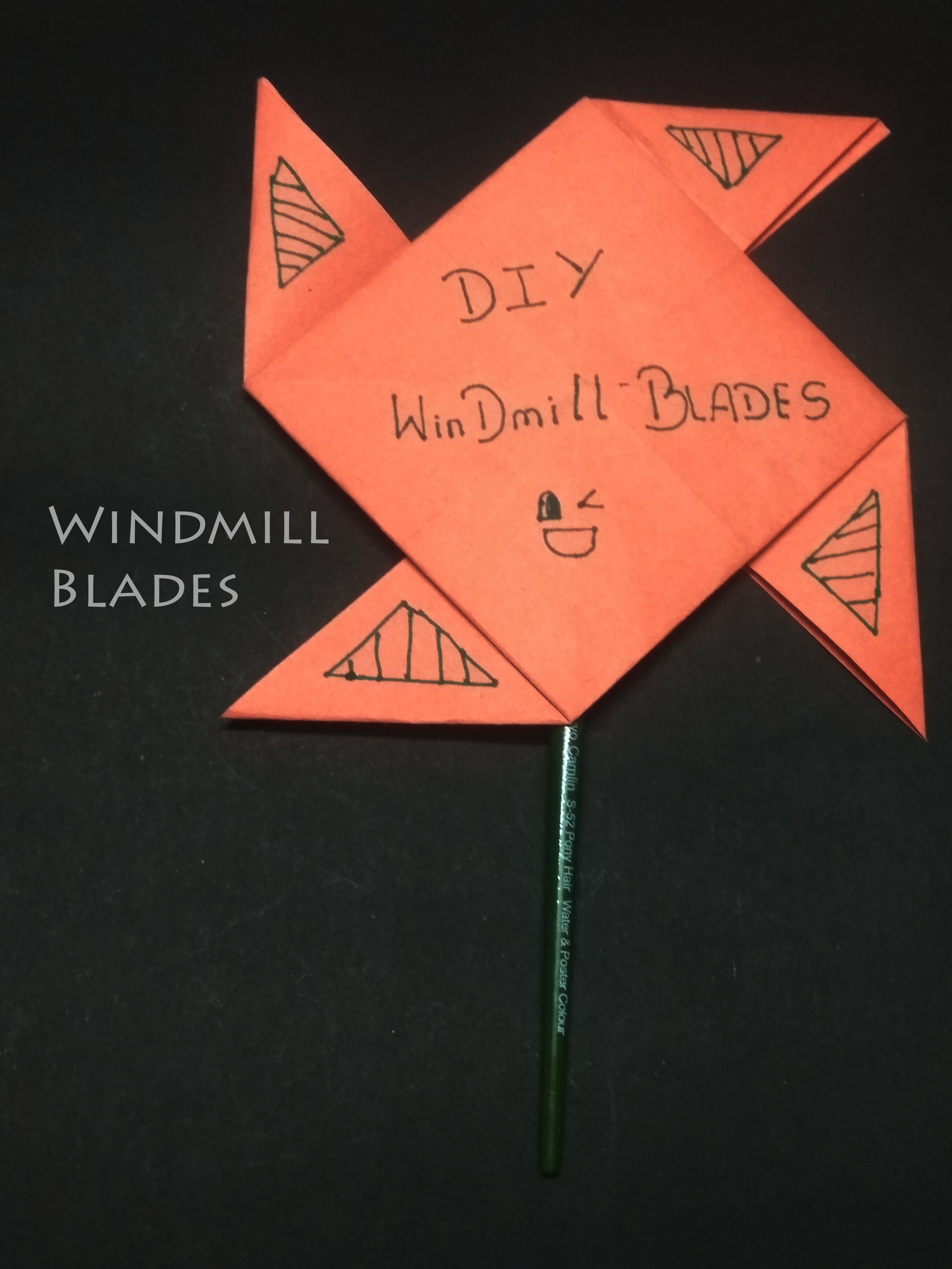 Picture of Pinwheel Using Paper and Paint Brush