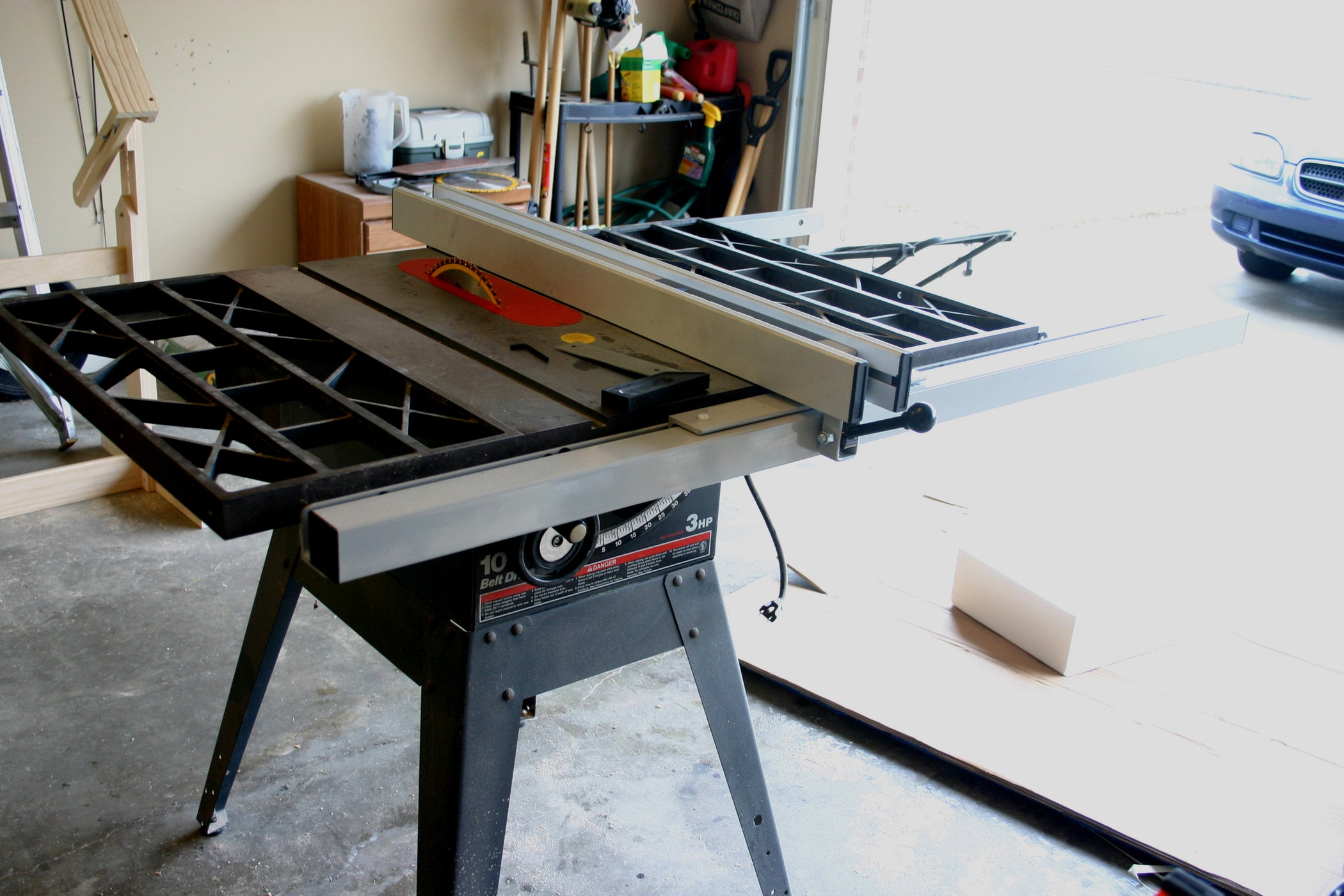 Retrofitting A Delta T2 Fence To Craftsman Table Saw 7 Steps On Off Switch Wiring Diagram
