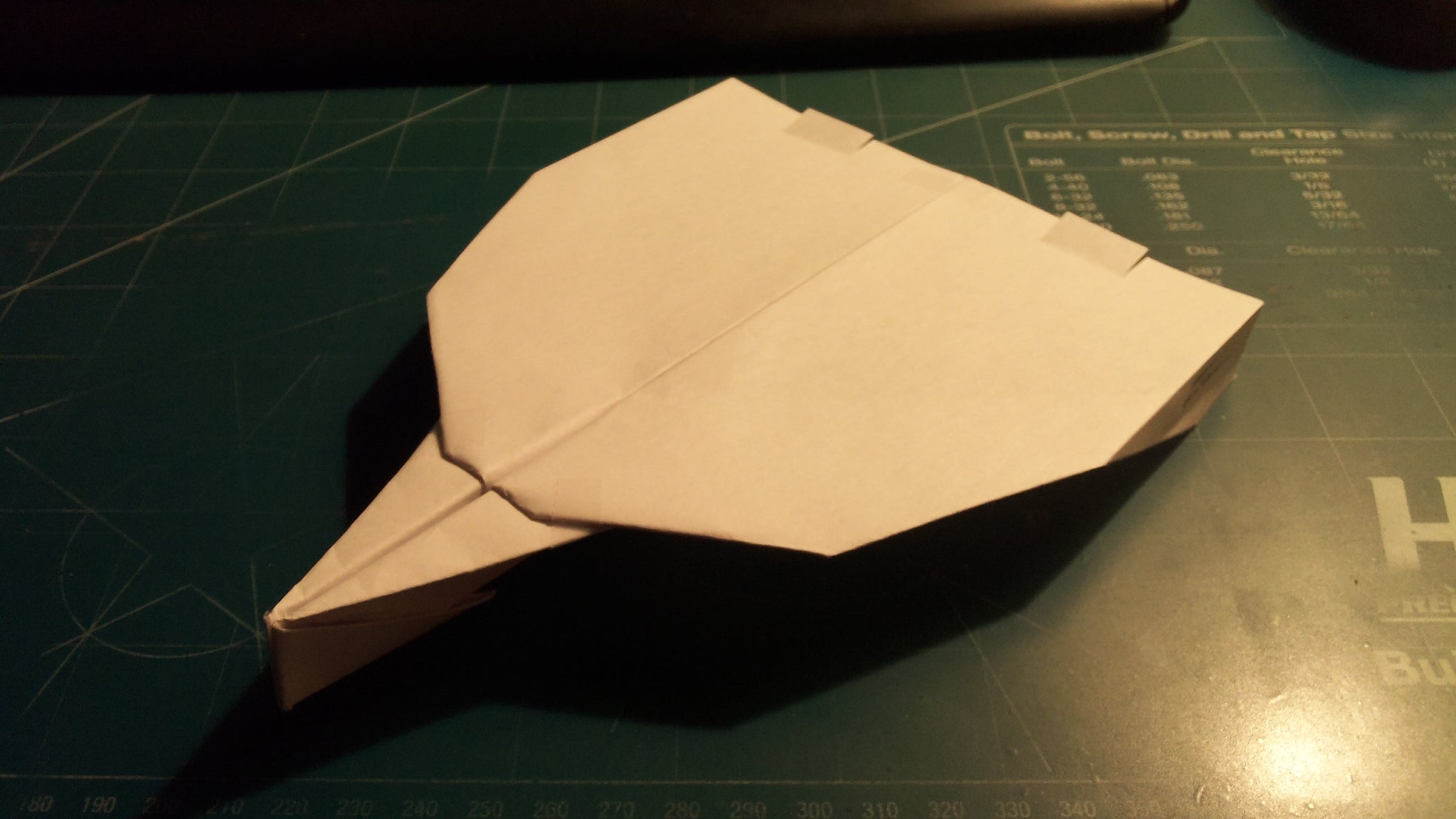 How to Make the UltraSabre Paper Airplane
