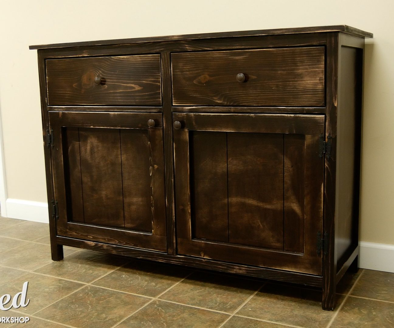 how to build a diy sideboard buffet cabinet 15 steps with pictures rh instructables com