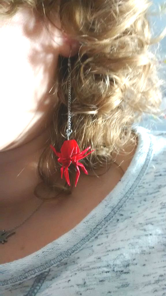 Picture of Origami Spider Earrings