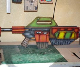 Build a prop Pulse Rifle (from card)