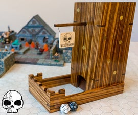 Zebrawood and Brass Dice Tower
