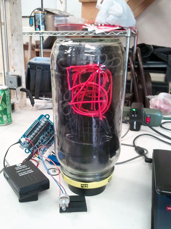 Picture of January 2014 Build Night: EL Wire Nixie Tube