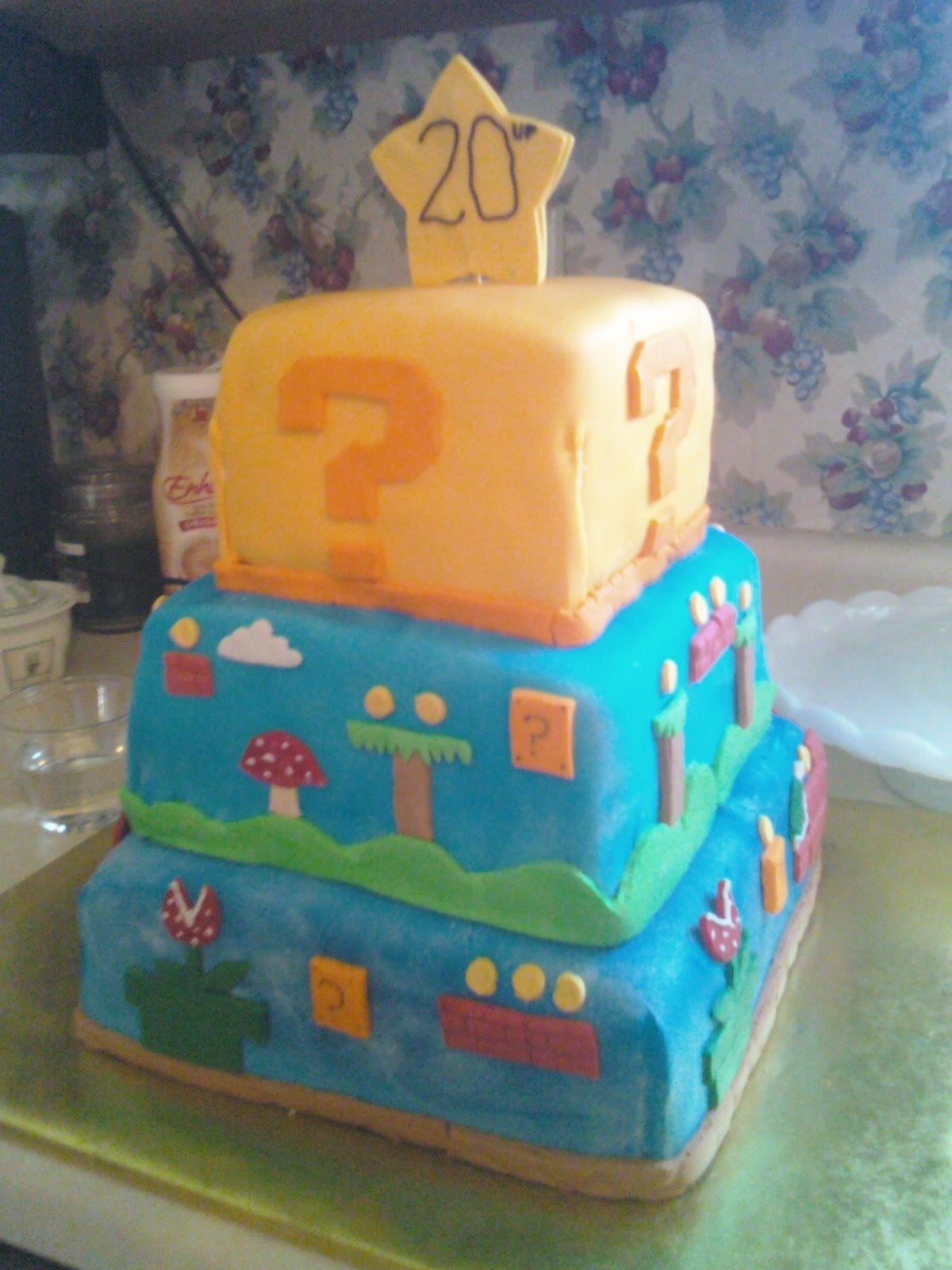 Tremendous Super Mario Birthday Cake With Pictures Instructables Funny Birthday Cards Online Fluifree Goldxyz