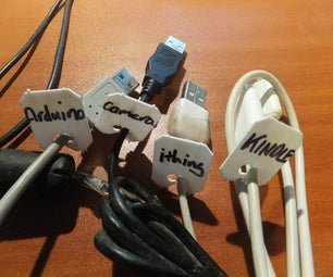 Label All Those USB (and Other) Cables With Bread Bag Tags