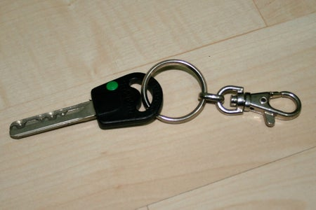 Attach Key to Hook, and to Bag