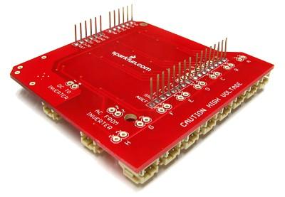 Picture of  EL Arduino Shield Configuration
