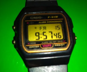 How to Work Your Casio F-91W Watch
