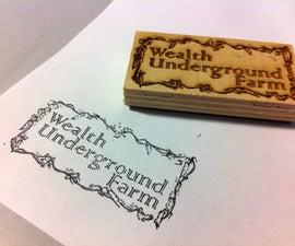 Laser-Cut Rubber Stamp