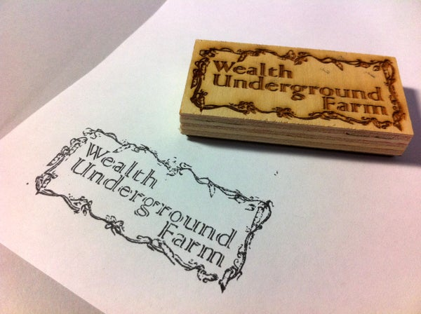 Laser-Cut Rubber Stamp
