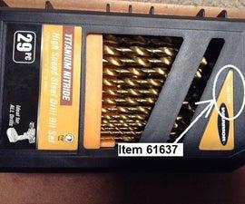 How to Open the 61637 Titanium Nitride Drill Bit Set Index Box