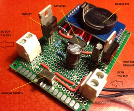 TEMPO - The handy timer switch - Attiny85 & DS3231 RTC based ** V. 1.7 more features **