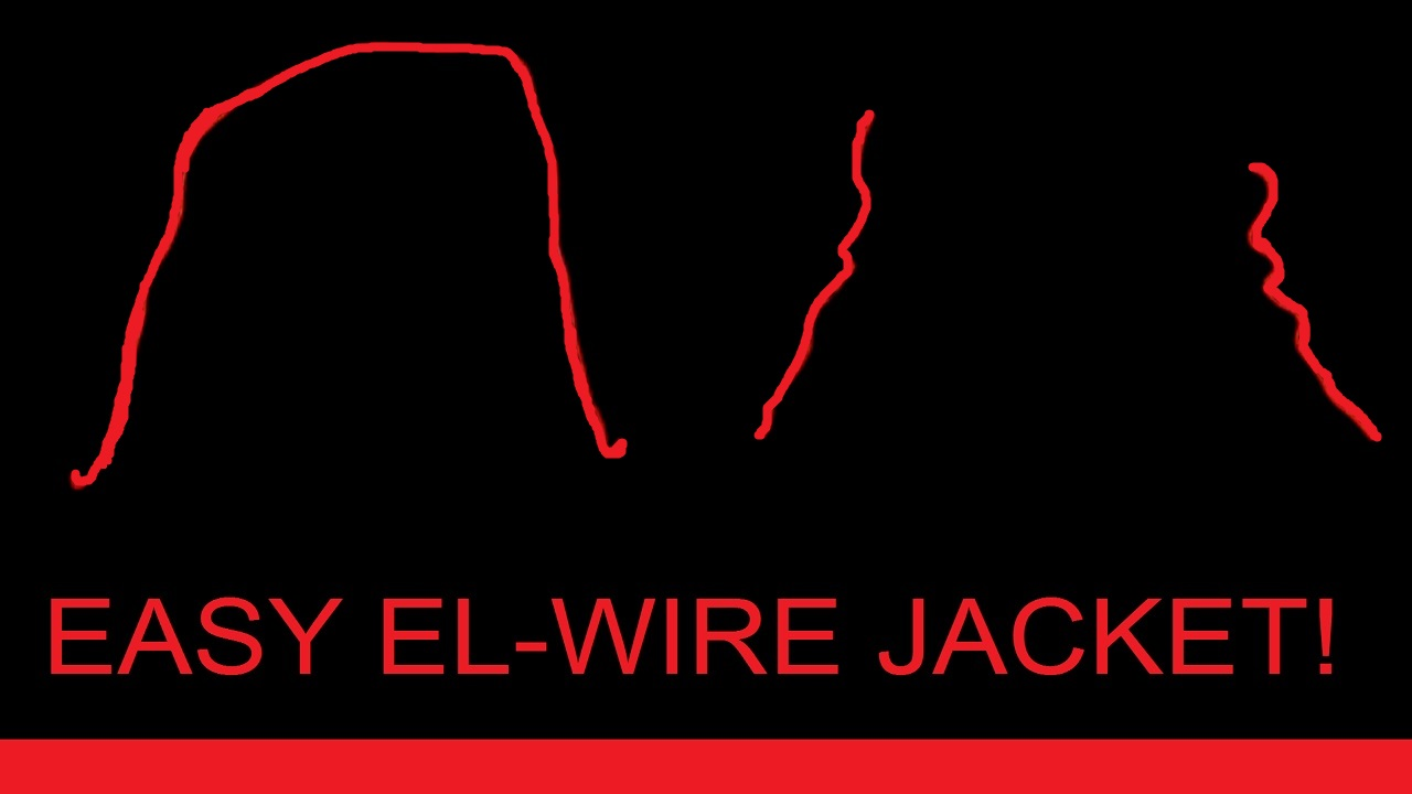 Picture of Glowing EL Wire Jacket!